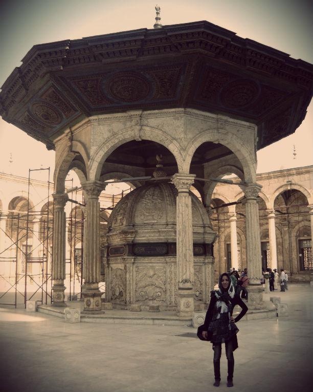 Interior mezquita Muhamed Alí