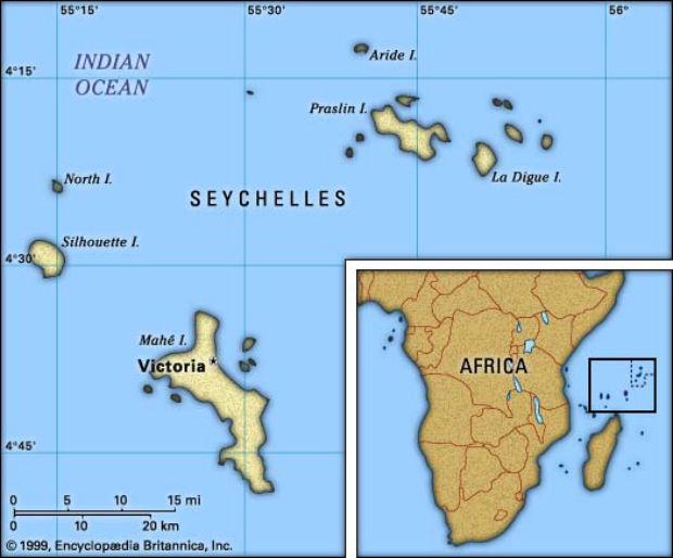 seychelles mapa