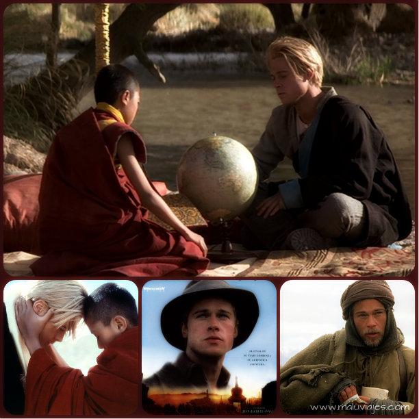 collage siete años en tibet
