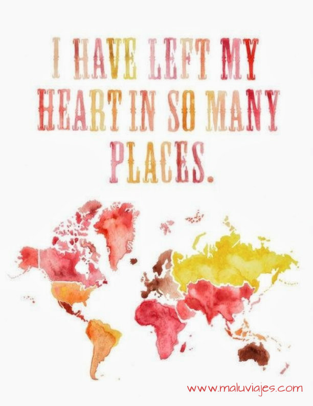 i have left my heart places