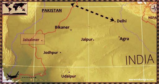 mapa ruta jaisalmer