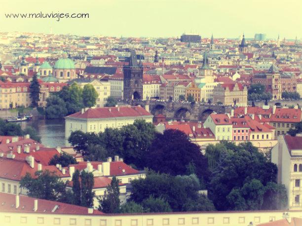 Mirador desde el Castillo de Praga.